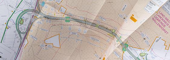 Übersichtskarte zum Planfeststellungsverfahren